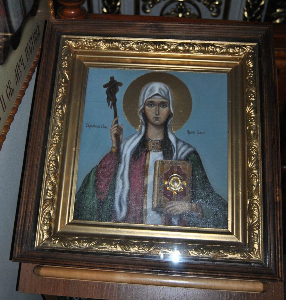 Икона с частицей мощей святой равноапостольной Нины, просветительницы Грузии