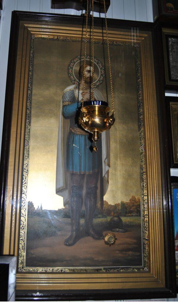 Икона с частицею святых мощей святого благоверного великого князя Александра Невского