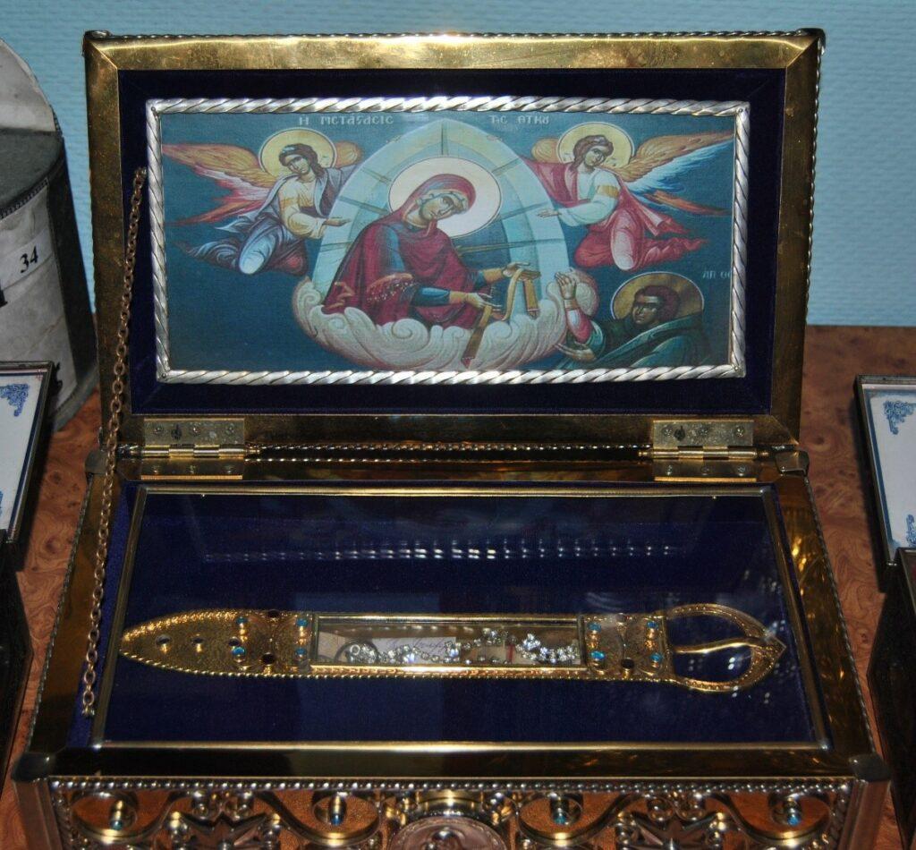 Ковчег с частицей пояса Пресвятой Богородицы
