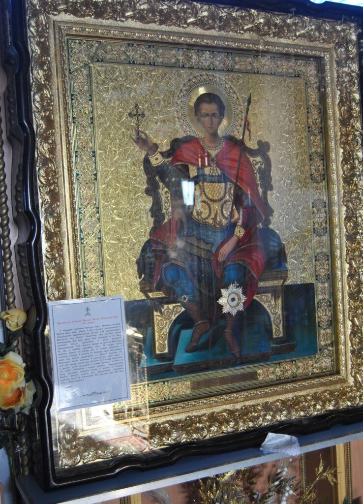 Икона святого преподобномученика Николая (Вуненского), с частицей мощей